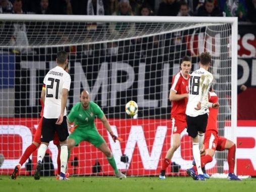 Tin bóng đá 21-3: Đức hòa Serbia, xứ Wales thắng nhẹ