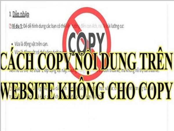 Mách bạn cách copy trang web không cho copy