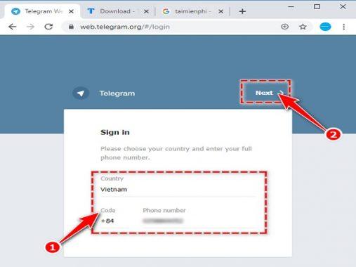 Hướng dẫn sử dụng chát telegram trên web