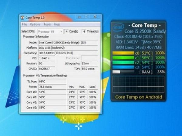 Các cách kiểm tra nhiệt độ CPU