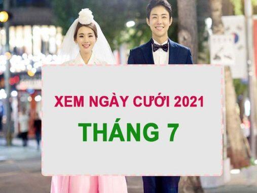 Xem ngày cưới tốt tháng 7 năm 2021 cho 12 con giáp