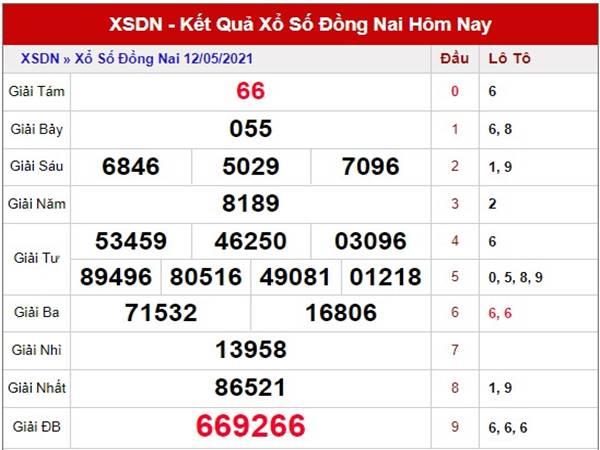 Dự đoán kết quả XS Đồng Nai thứ 4 ngày 19/5/2021