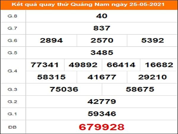 Quay thử Quảng Nam ngày 25/5/2021 thứ 3